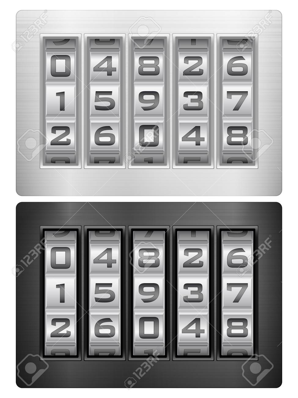 Combination lock icons on a white background. Stock Vector - 17854746