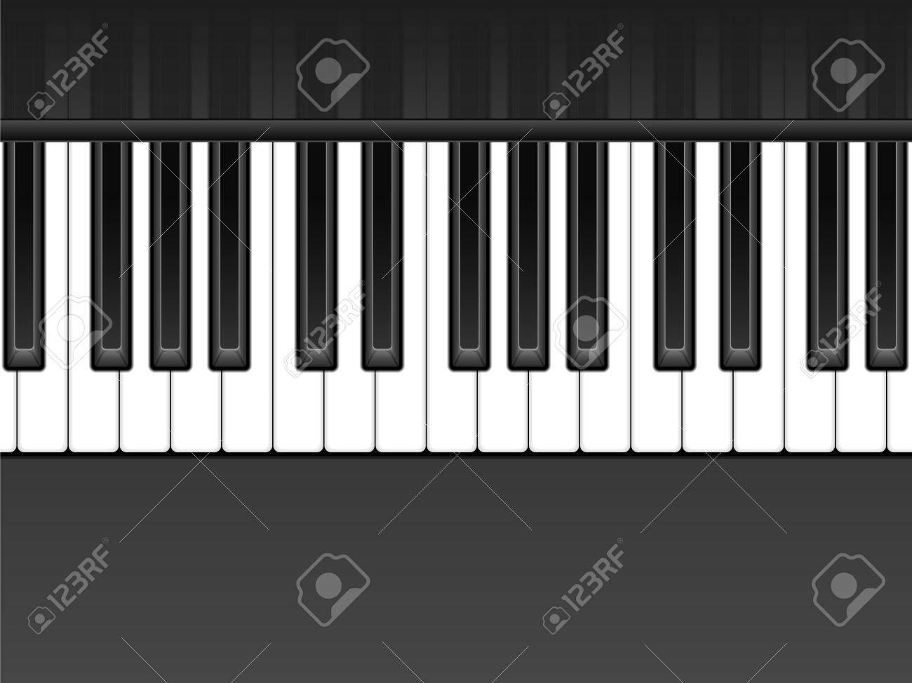 Piano Black Background Black And White Piano Keyboard