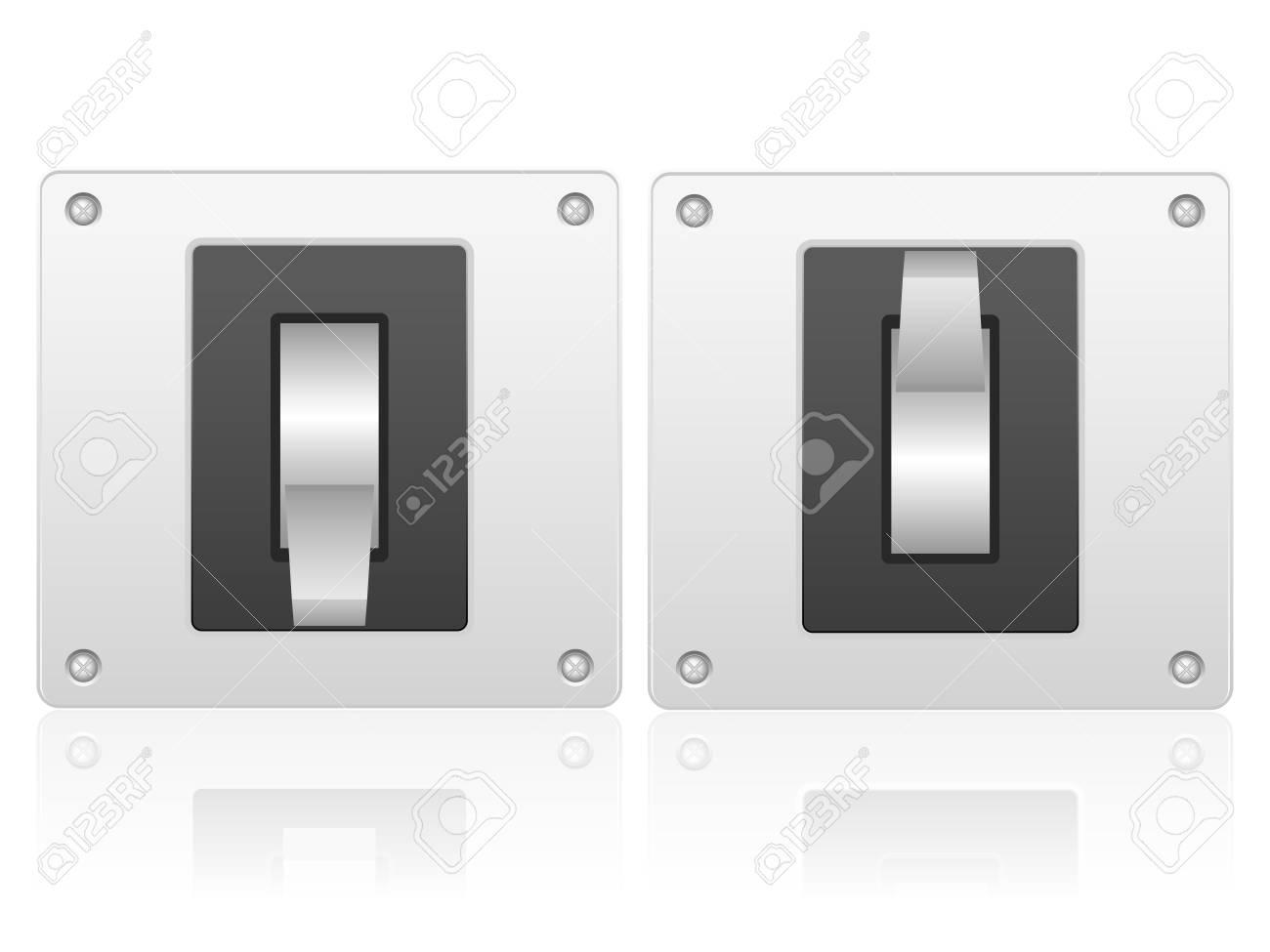 Elektrischen Schalter Auf Einem Weißen Hintergrund. Lizenzfrei ...