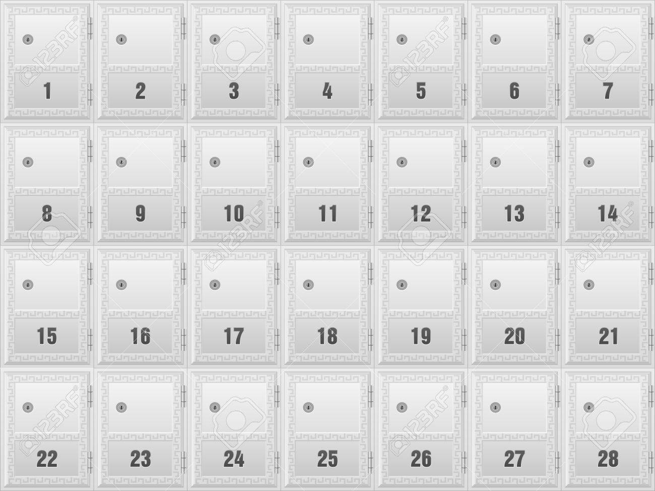 Mailboxes For Apartment Building Background. Royalty Free Cliparts ...