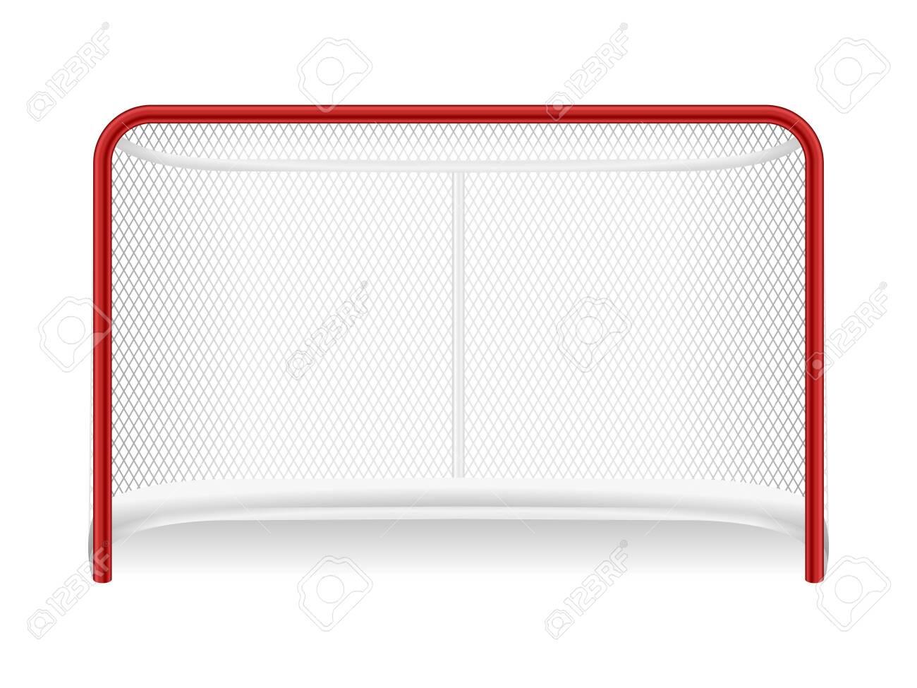 Hockey goal on a white background. Vector illustration. - 138596995