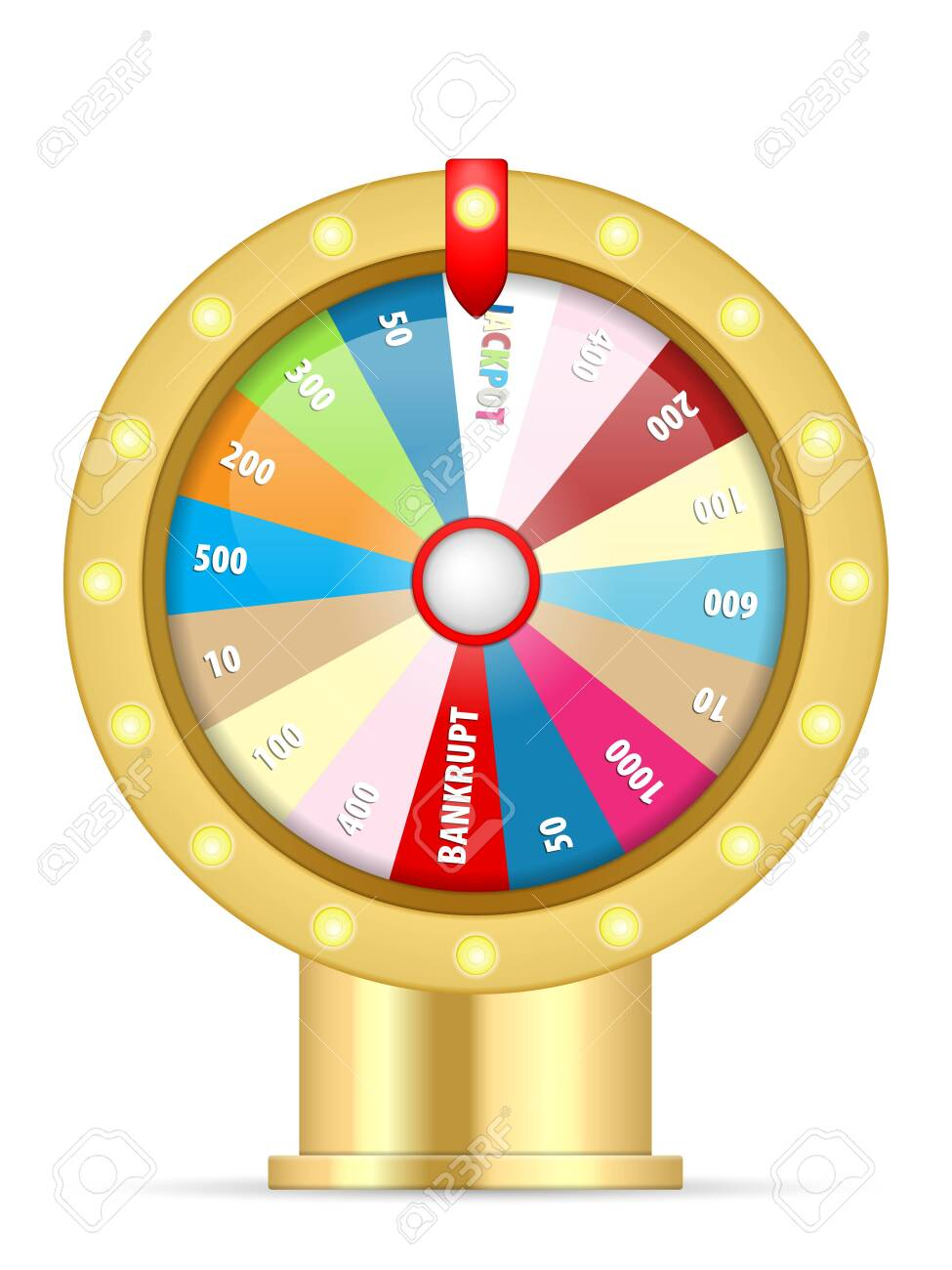 Wheel of fortune on a white background. Vector illustration. - 143227711