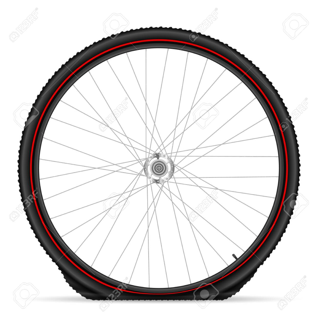 Flat bike tire on a white background. Vector illustration. - 150217756