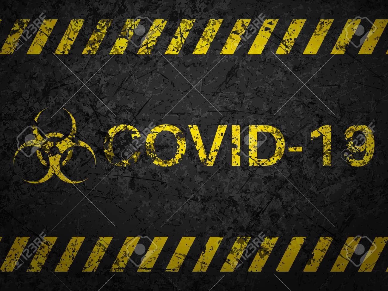 Grunge covid-19 textured background. Vector illustration. - 151862696