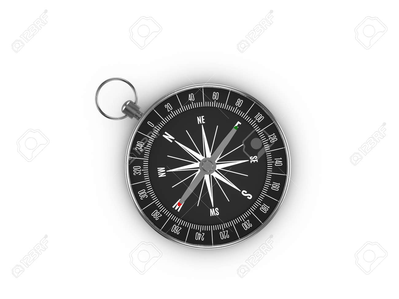 Compass on a white background. 3d illustration. - 165811148