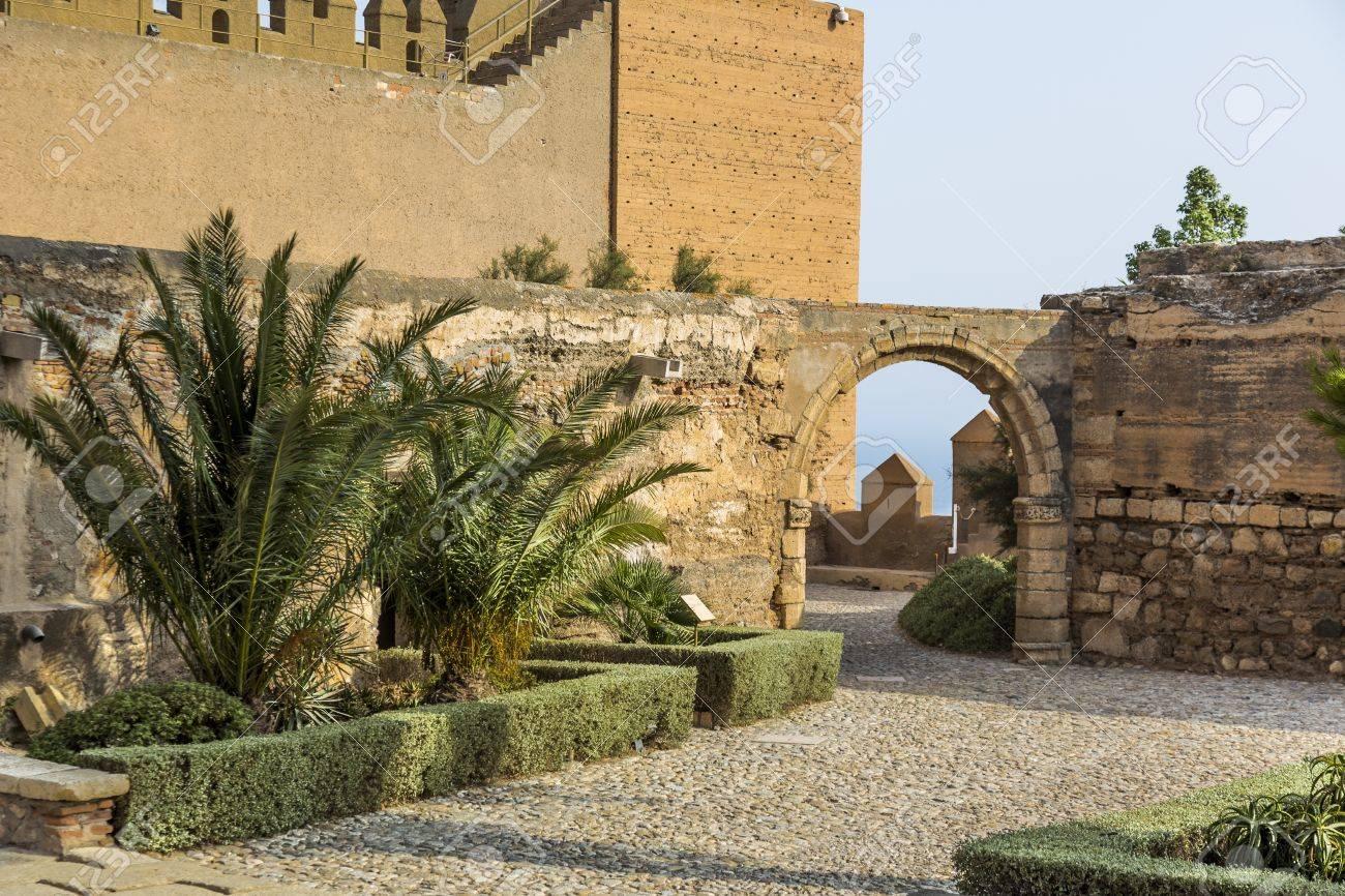 estn los jardines y fuentes de la alcazaba monumento situado en almera espaa