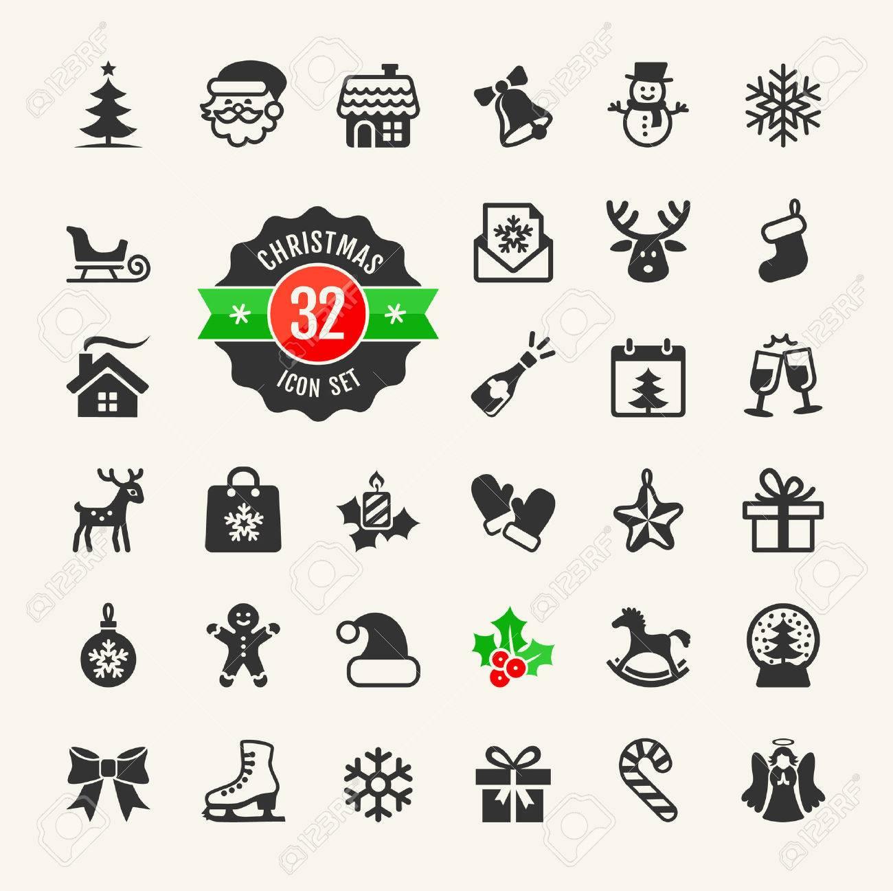 Christmas Holidays Icon.Christmas And Winter Holidays Icon Set