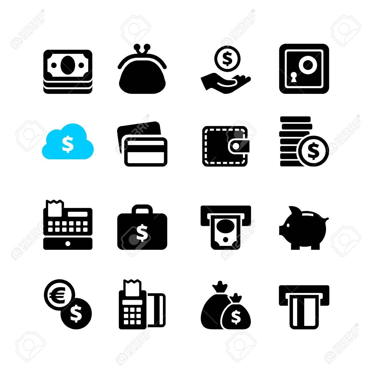 Web icon set - money, cash, card - 30794313
