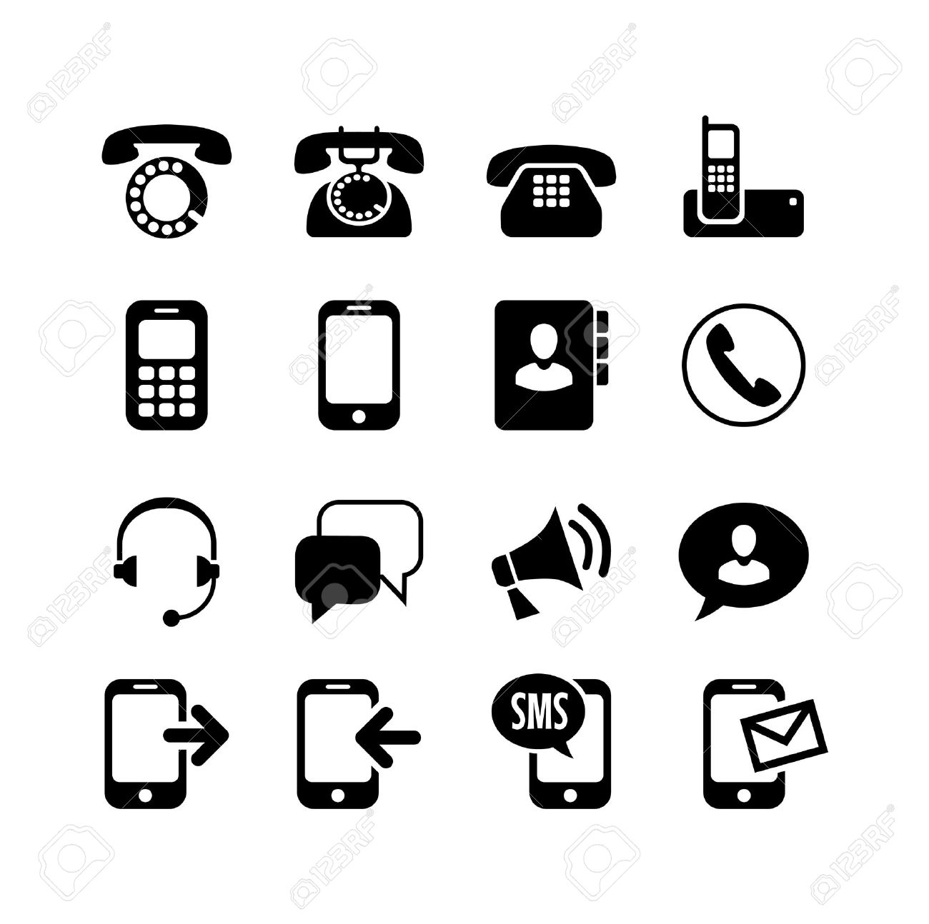 3,026 Telephone Fax Stock Vector Illustration And Royalty Free ...