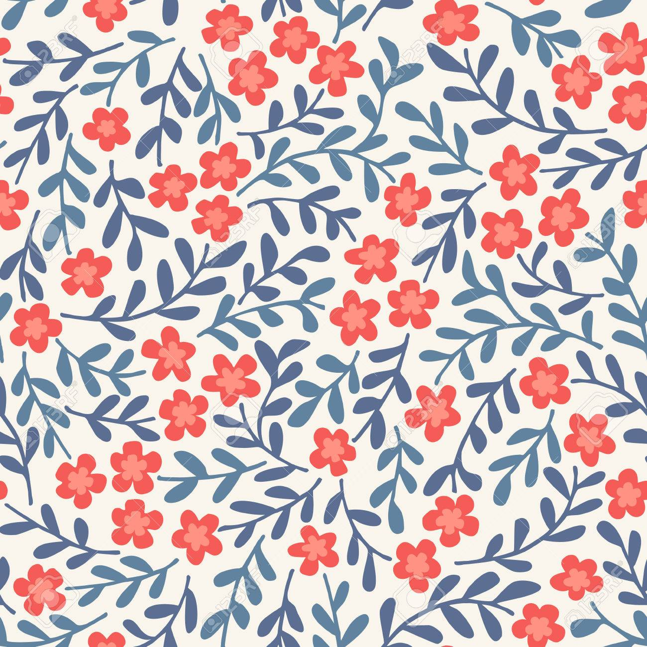 Simple seamless vector pattern with flowers Stock Vector - 33020130