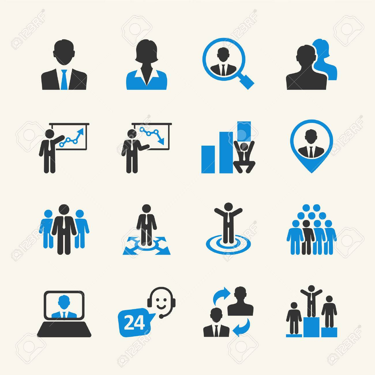 Business People - web icon collection - 34479751