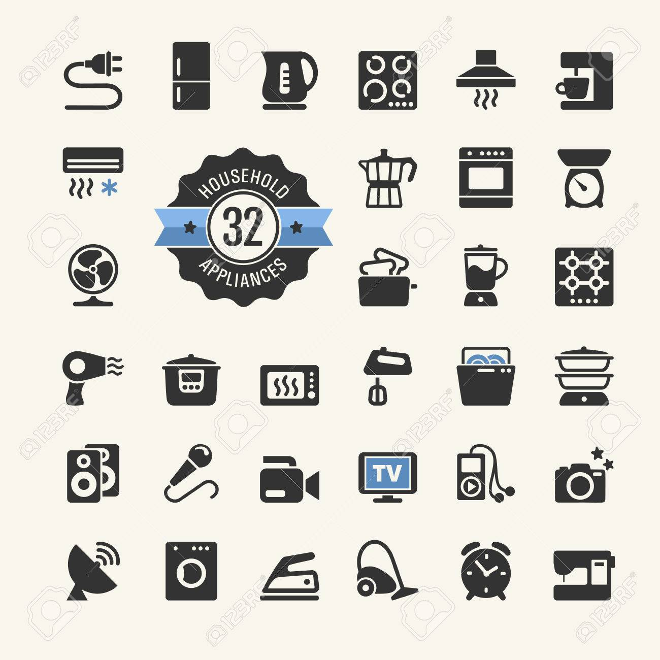 Web icon collection - household appliances - 35355227