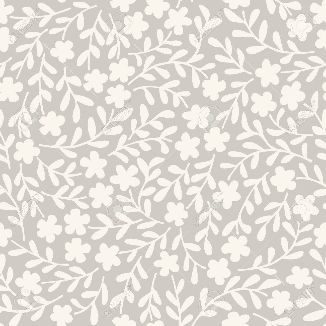 Simple seamless vector pattern with flowers - 35355228
