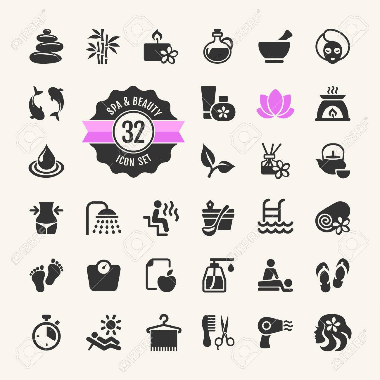 Spa & Beauty Icons Set - 35769846