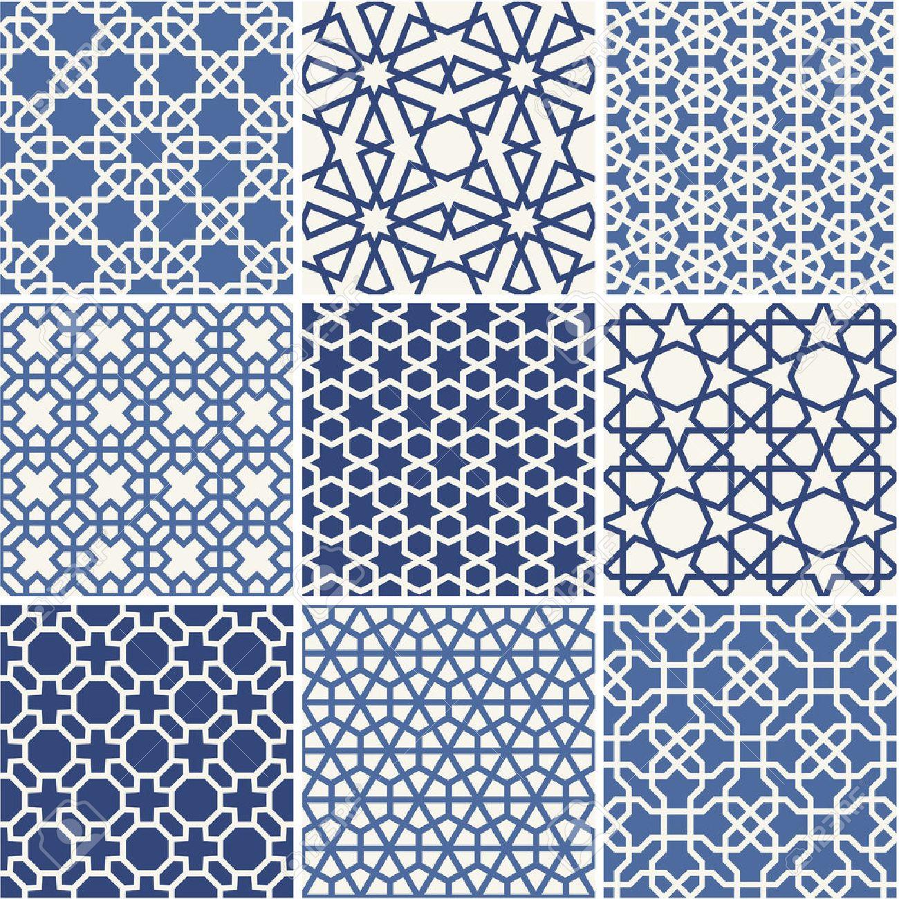 Set of Arabic seamless patterns, vector - 36623779