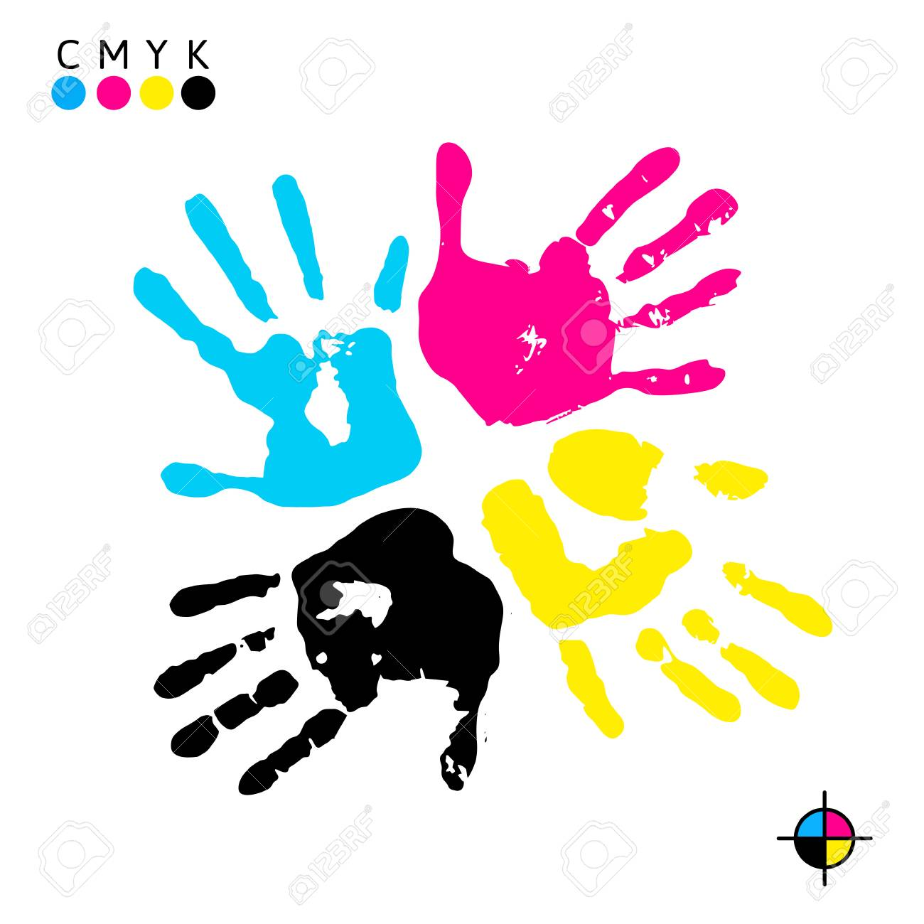 Hand Print Four Color Ink For Printing Prints Of Different Colors