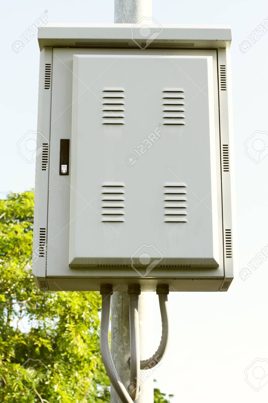 Pleasant Outdoor Electric Control Box Stock Photo Picture And Royalty Free Wiring Cloud Hisonuggs Outletorg
