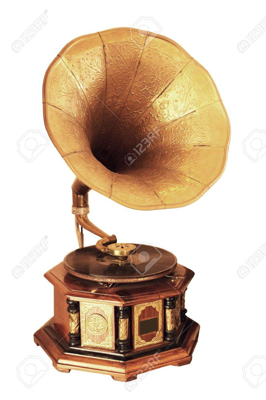 Retro gramophone isolated on white background Stock Photo - 12447413