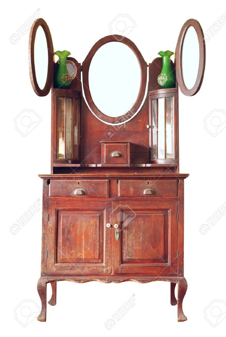 Vintage dresser isolated on white background Stock Photo - 14584789