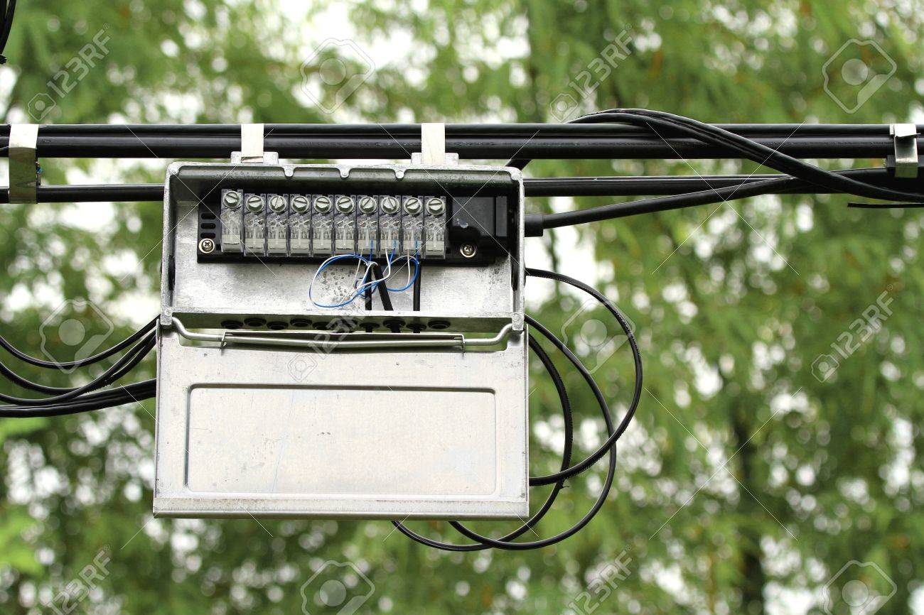 Outdoor Telephone Wiring Box Great Installation Of Diagram Junction Cable Stock Photo Picture And Rh 123rf Com Line