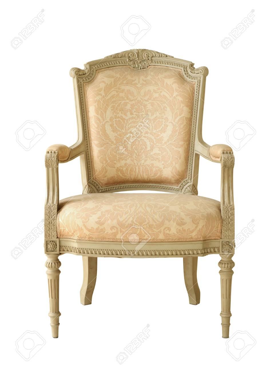 Vintage luxury armchair isolated on white background Stock Photo - 21718794