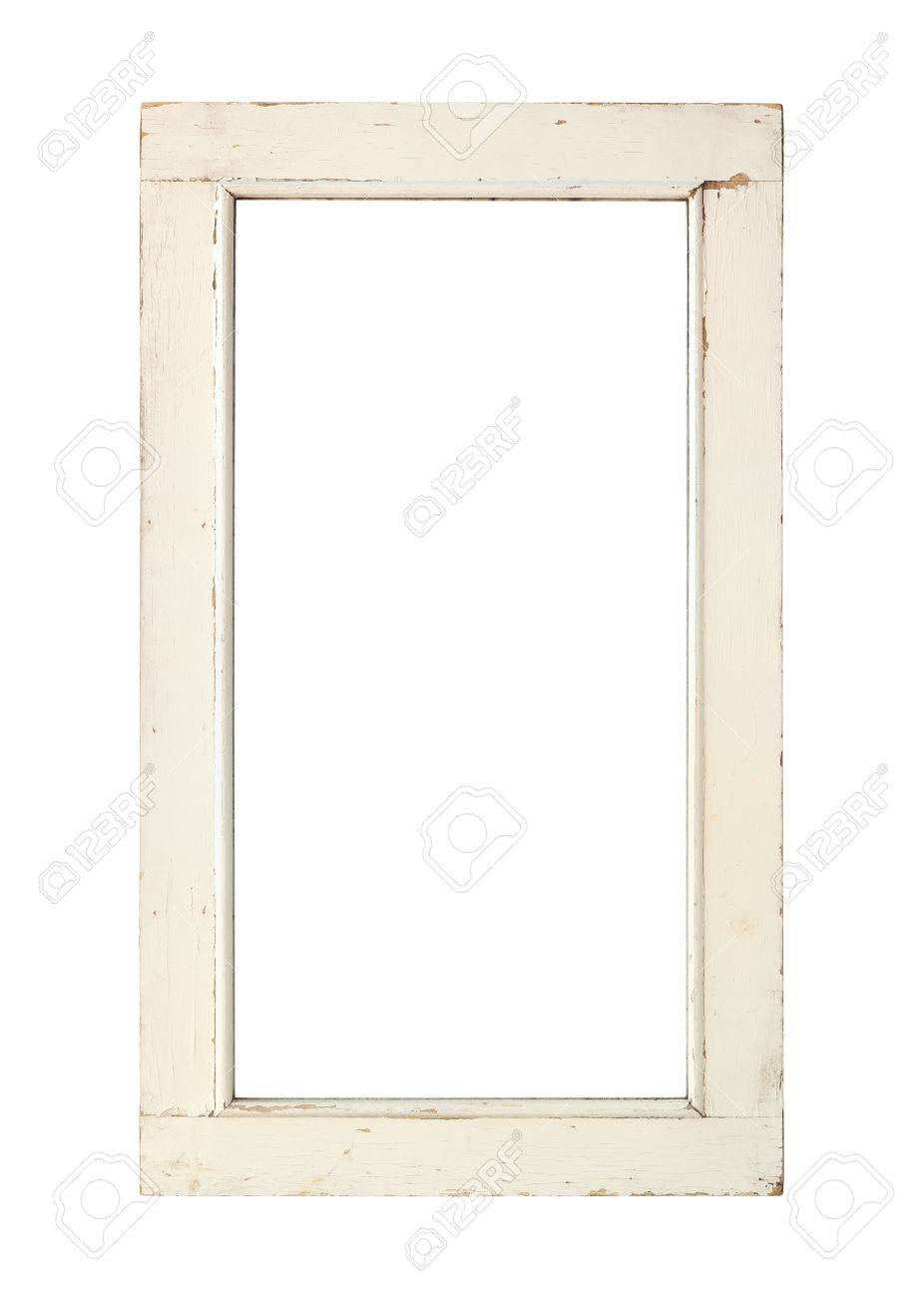 Old Window Frame With Clipping Path Stock Photo, Picture And Royalty ...