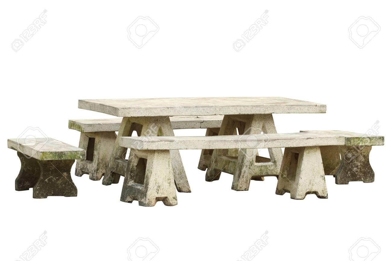 Garten Tisch Und Stuhl Set Mit Beschneidungspfad Isoliert Auf