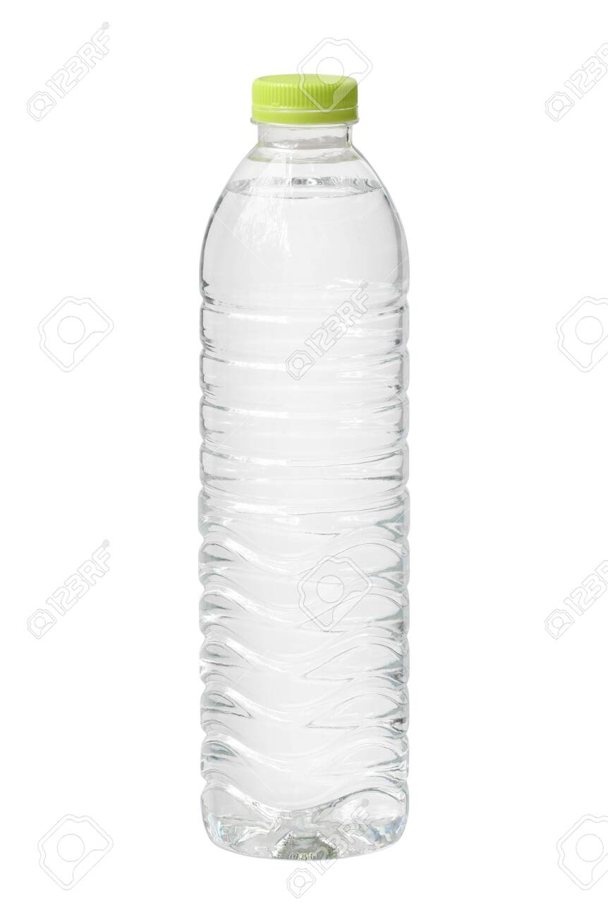 Plastic water bottle disposable isolated on white background - 131292708