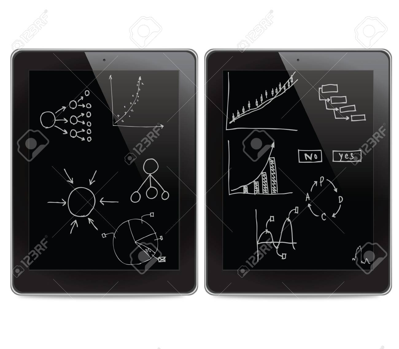 Drawing business plan on tablet computer Stock Photo - 16292096