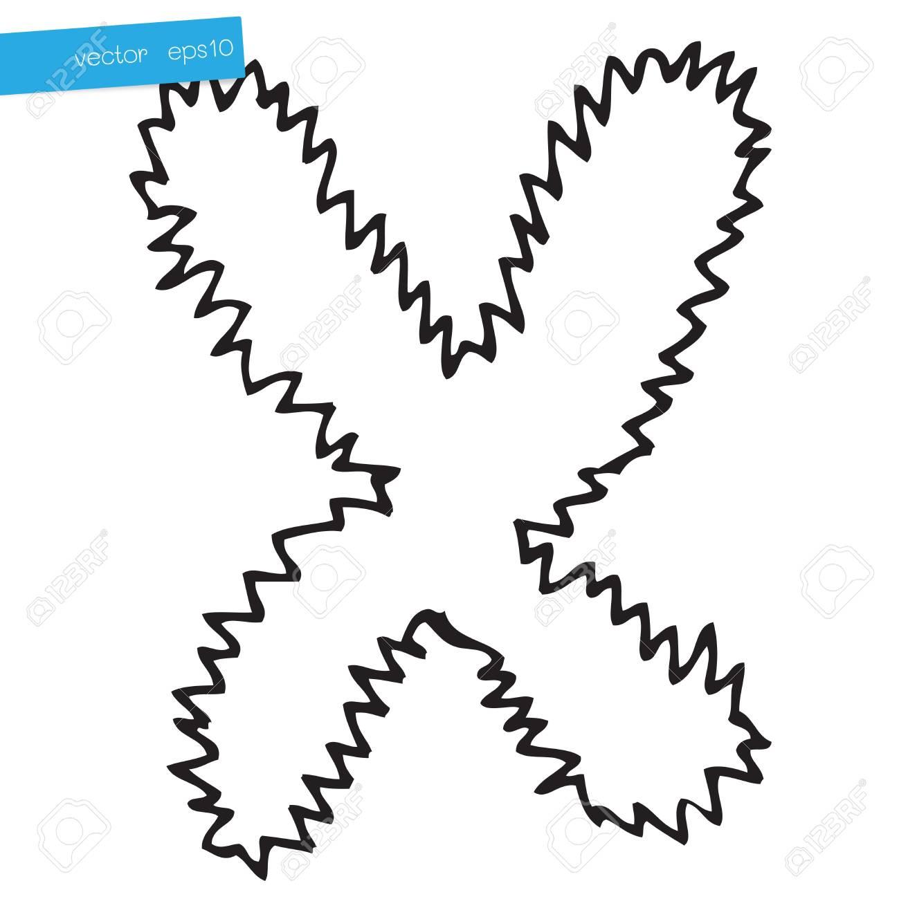 Hand drawing alphabet letter X in vector design Stock Vector - 16481304
