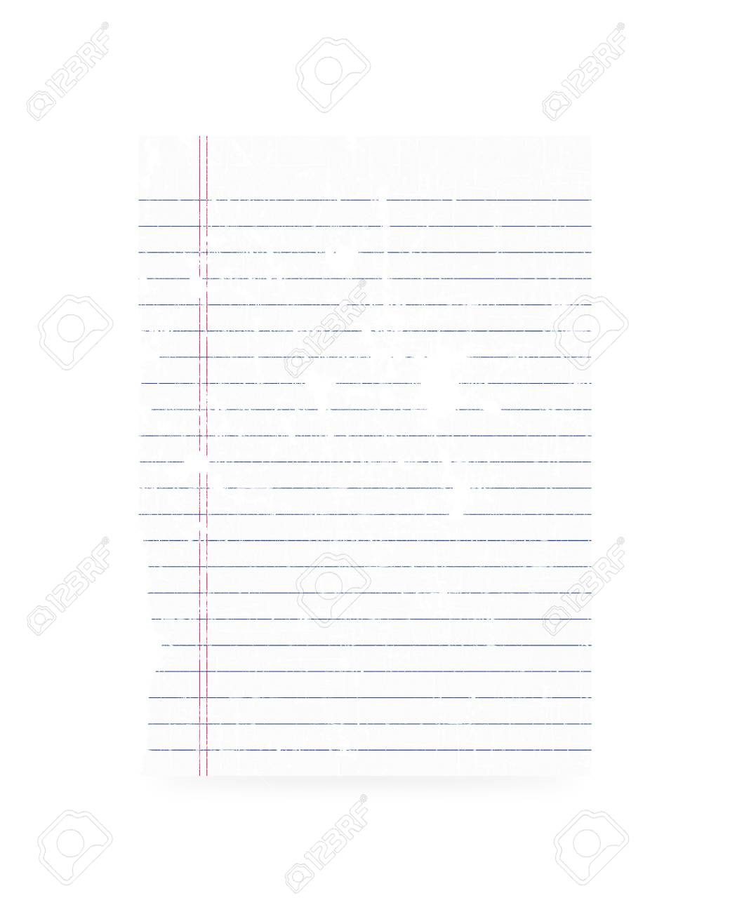 Blank old paper on white background Stock Photo - 16566665