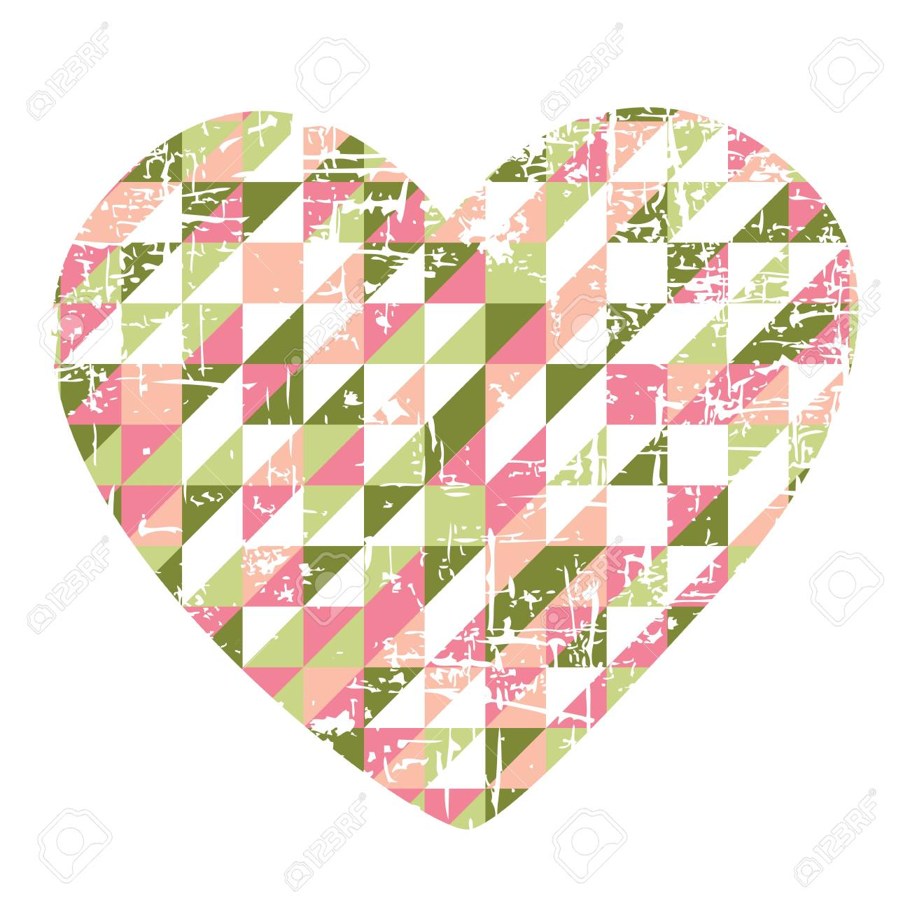 Heart of paper Valentines day Stock Vector - 17195639
