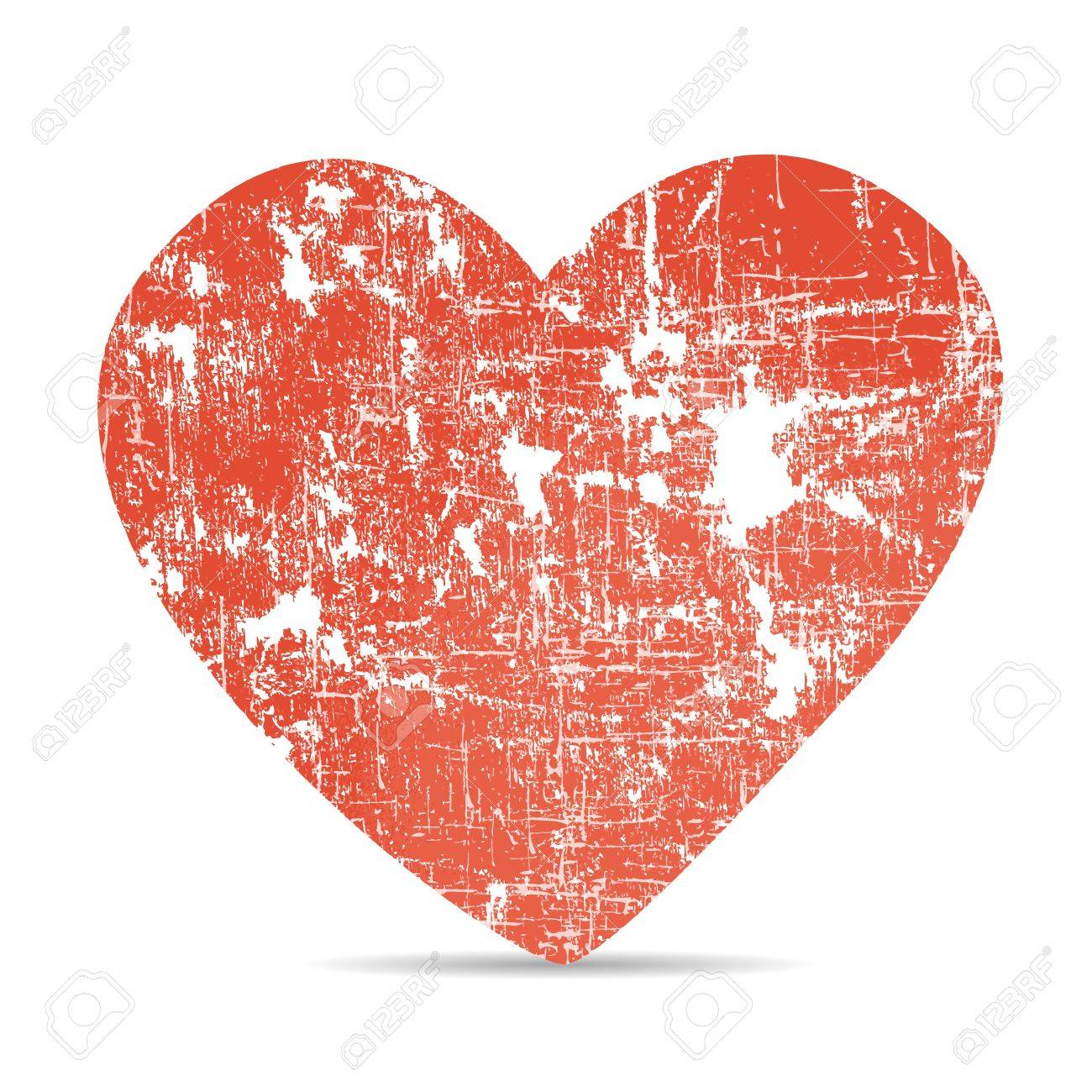 Heart of old paper Stock Vector - 17360503