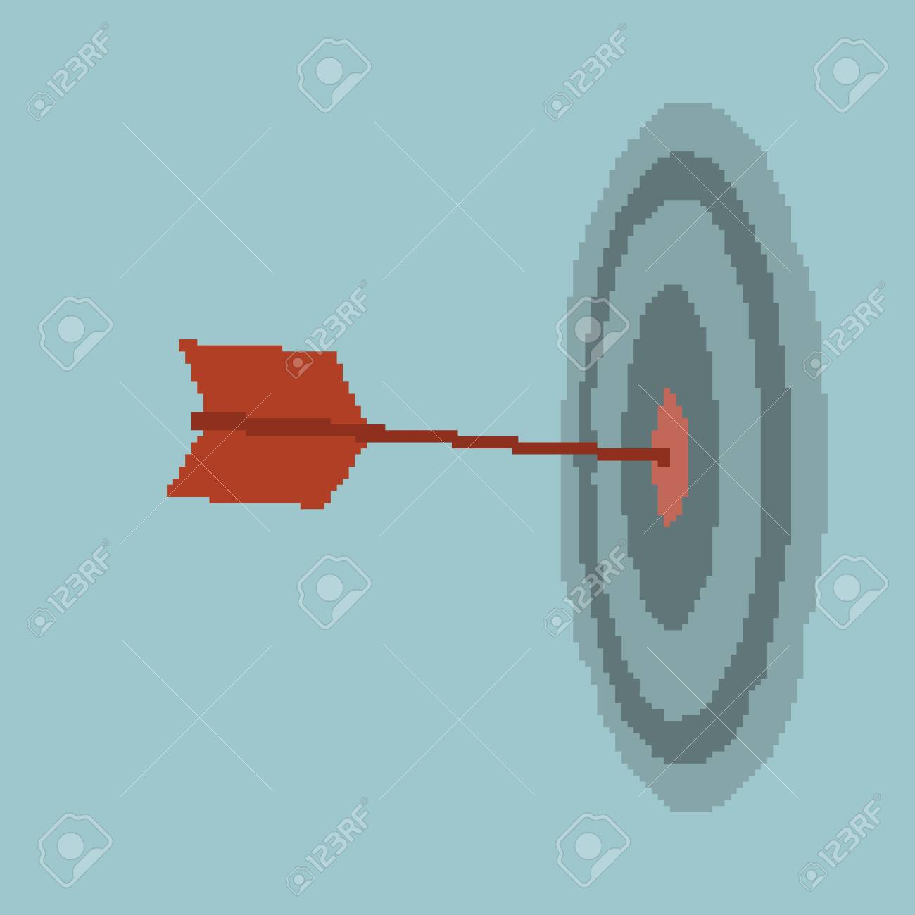 Businessman target Stock Vector - 20958236