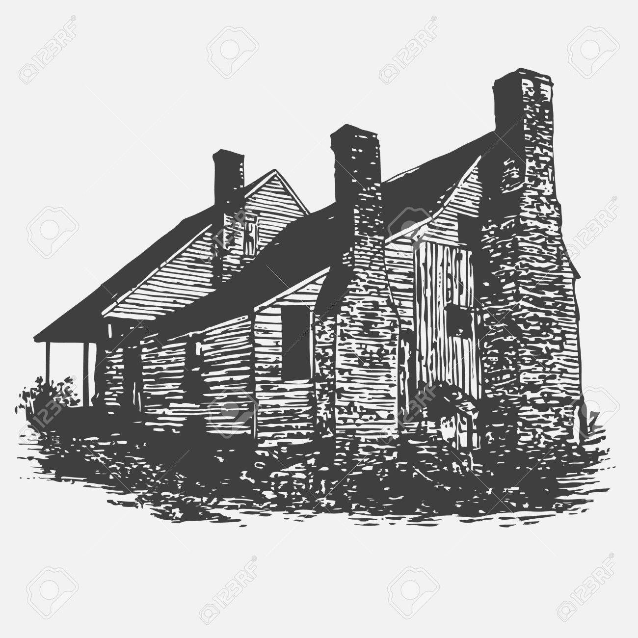 old abandoned house, graffiti style, vector illustration Stock Vector - 8920443