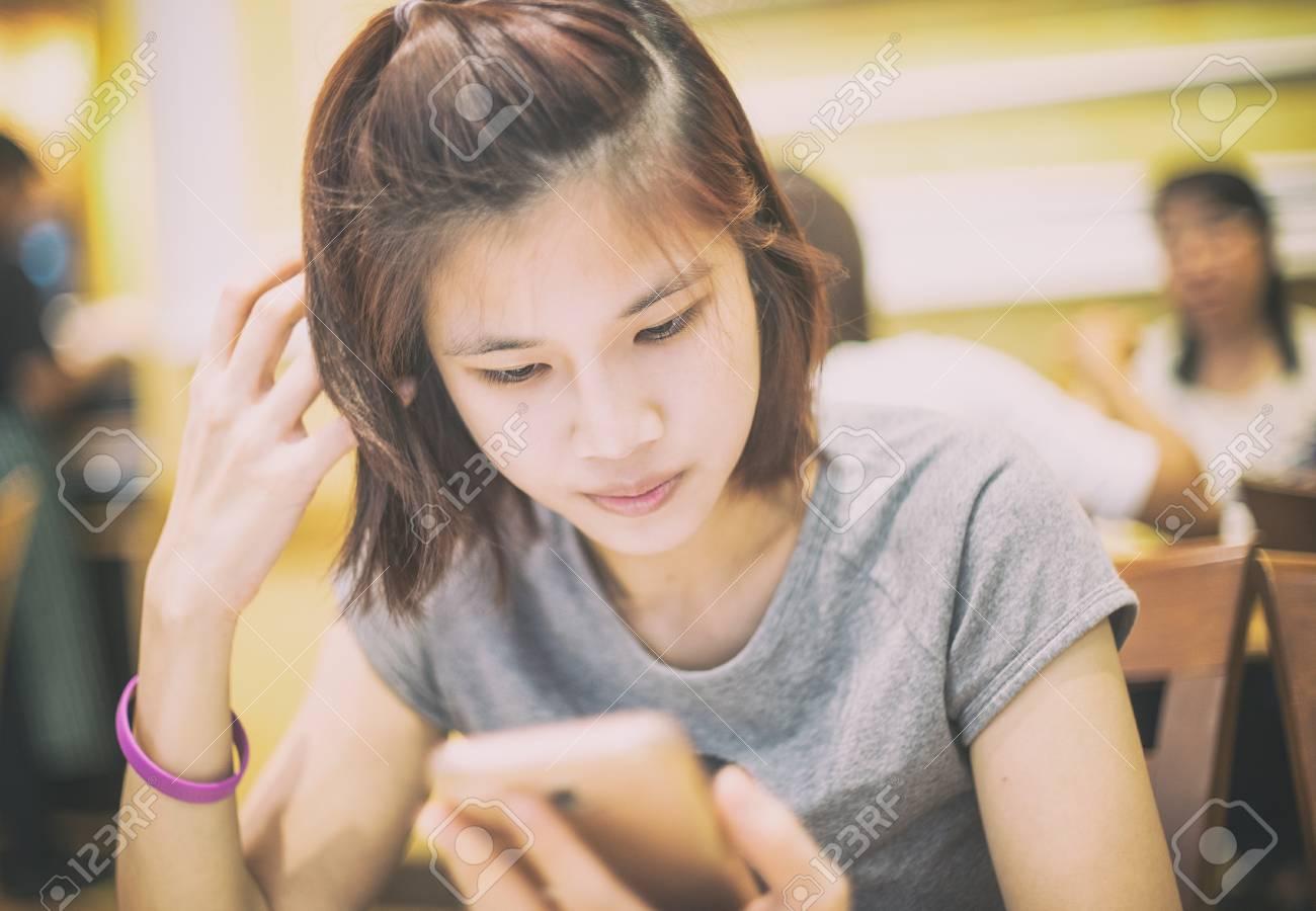 Short haired asian girl