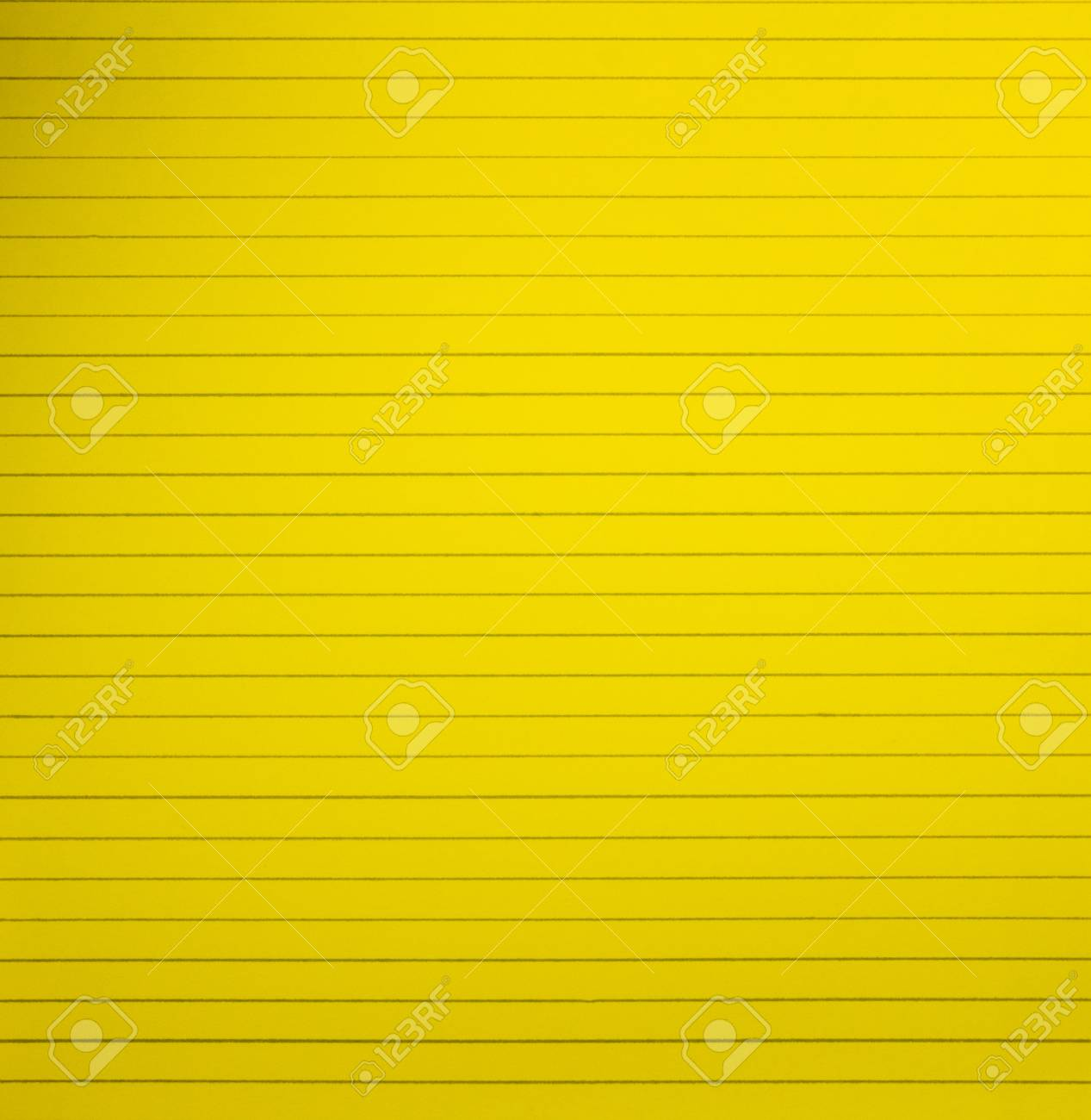 Yellow Blank Lined Notebook Paper Page Background Stock Photo ...