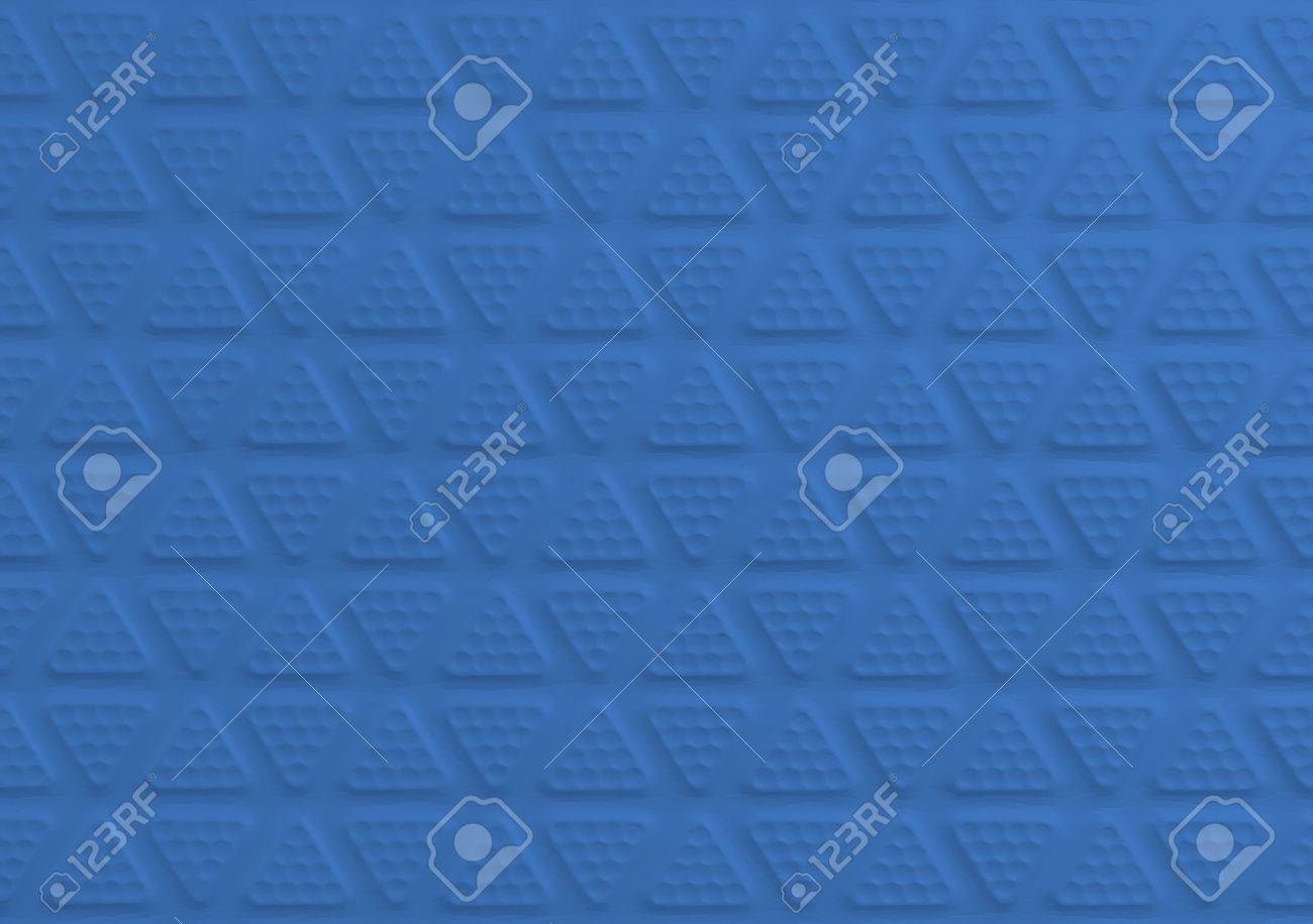 Blue Rubber Floor Tiles For Texture And Background Stock Photo