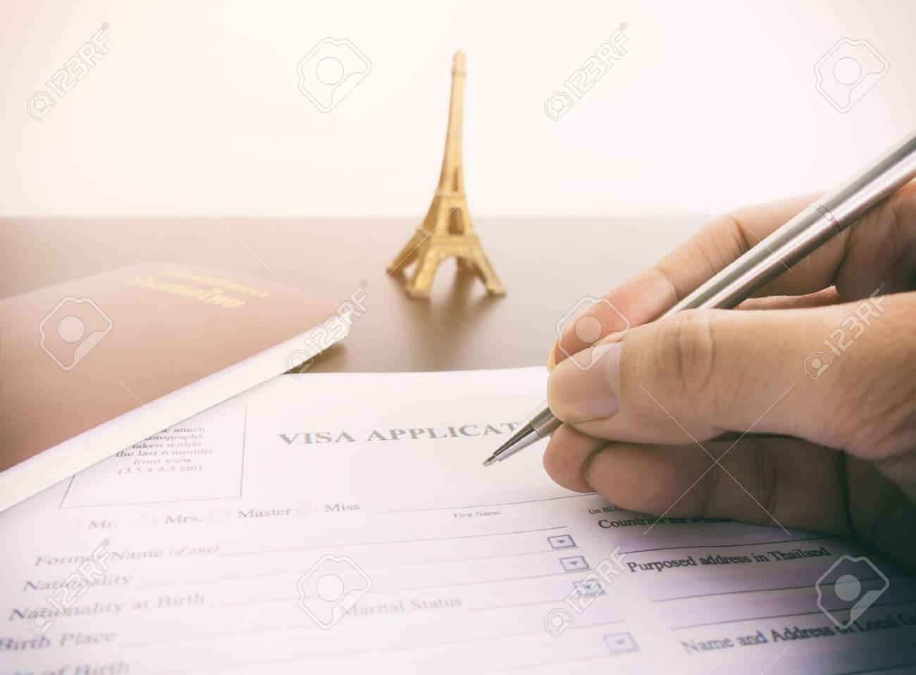 Filling Visa application form for France Paris