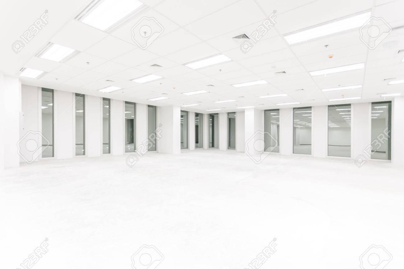 Leerer Raum Mit Langem Fenster Großer Hall Speicher Innenraum