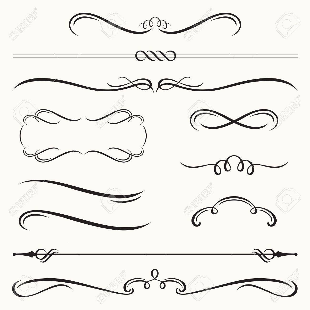 illustration of decorative border and frame set - 21746065