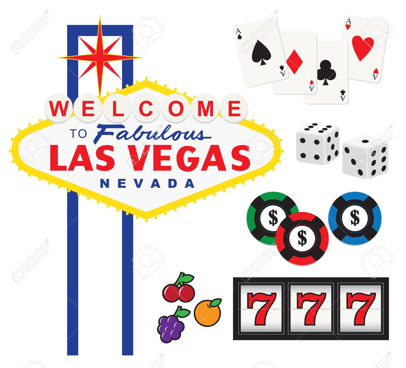 5,146 Las Vegas Cliparts, Stock Vector And Royalty Free Las Vegas ...