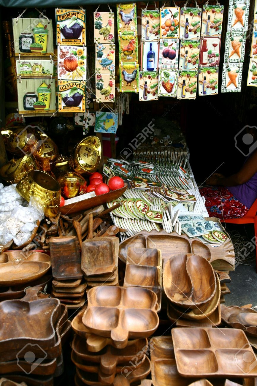 Ceramic Tiles And Wooden Plates And Trays Sold At Stores In Dapitan ...