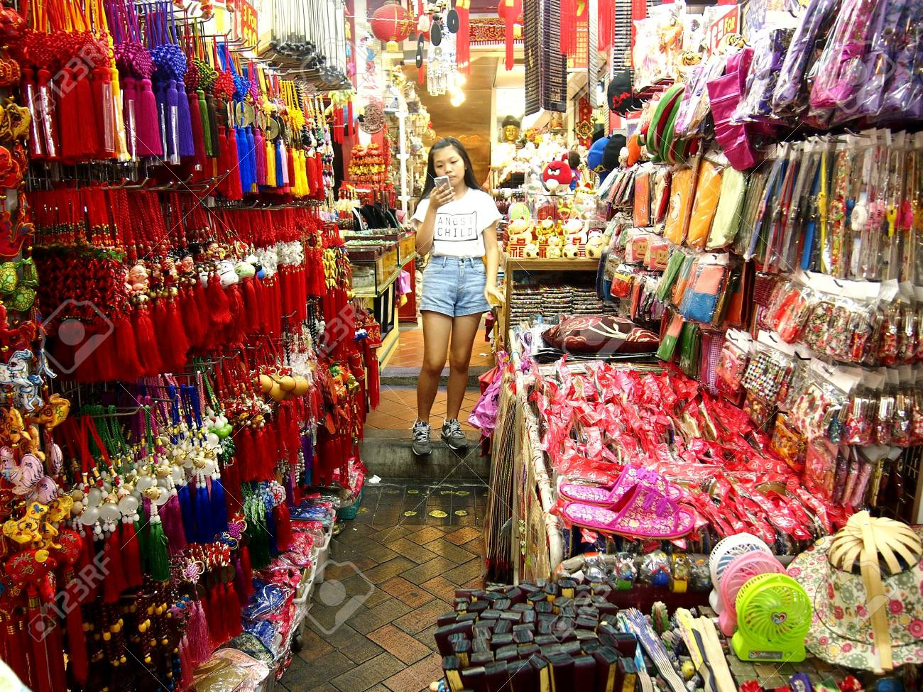 5d82d1745 Shops and stores in Chinatown in Singapore, Asia Stock Photo - 51479253