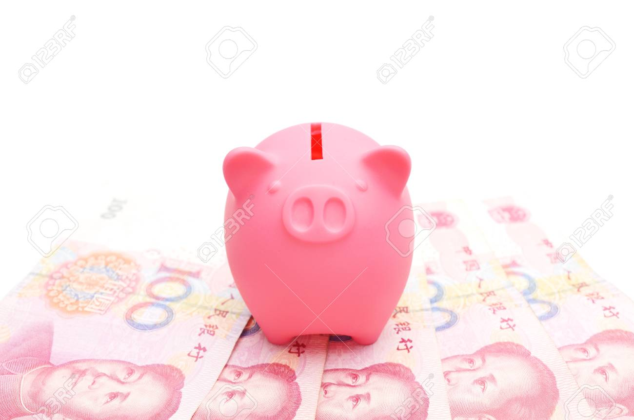 piggy bank and chinese money Stock Photo - 14272655