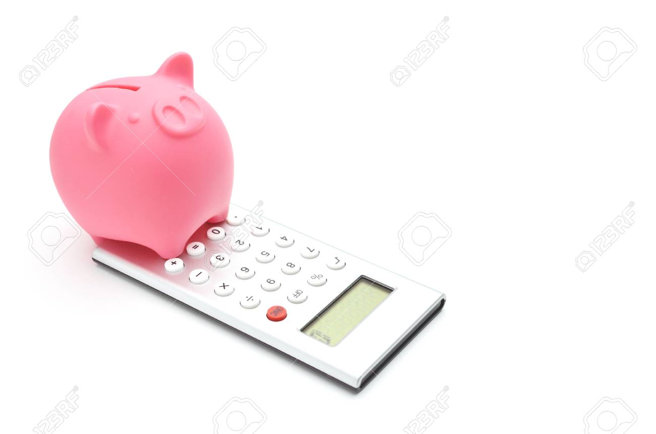 piggy bank and calculator Stock Photo - 14336893