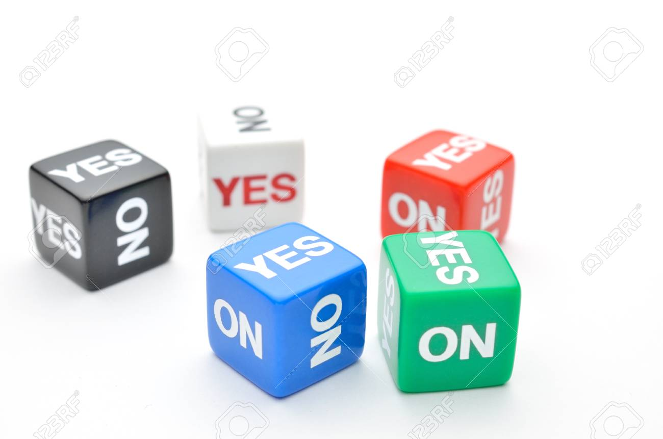Dice with words Yes, No Stock Photo - 16010756