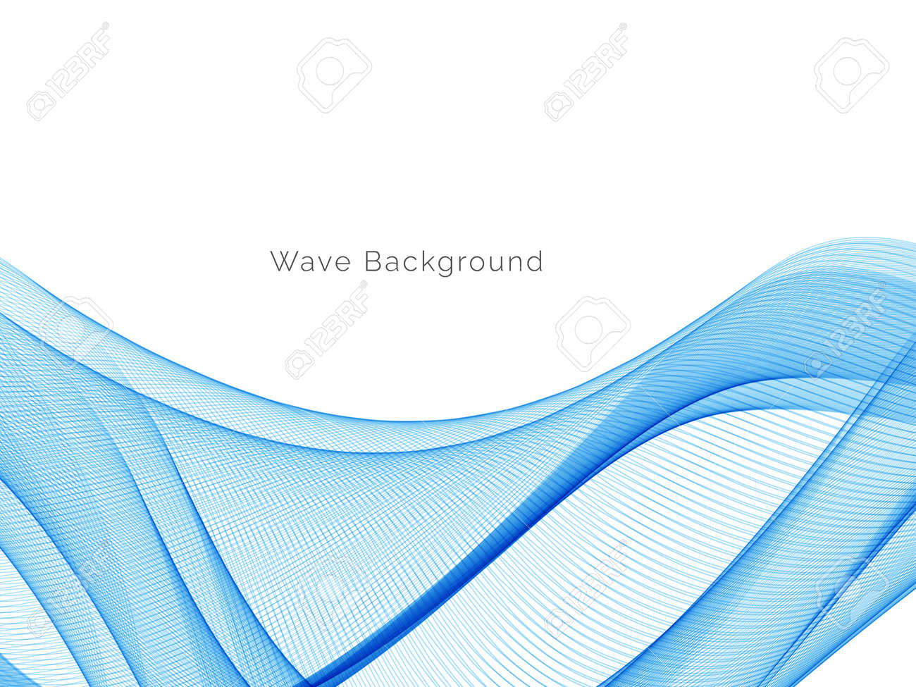 Blue wave stylish dymanic background vector - 166168949