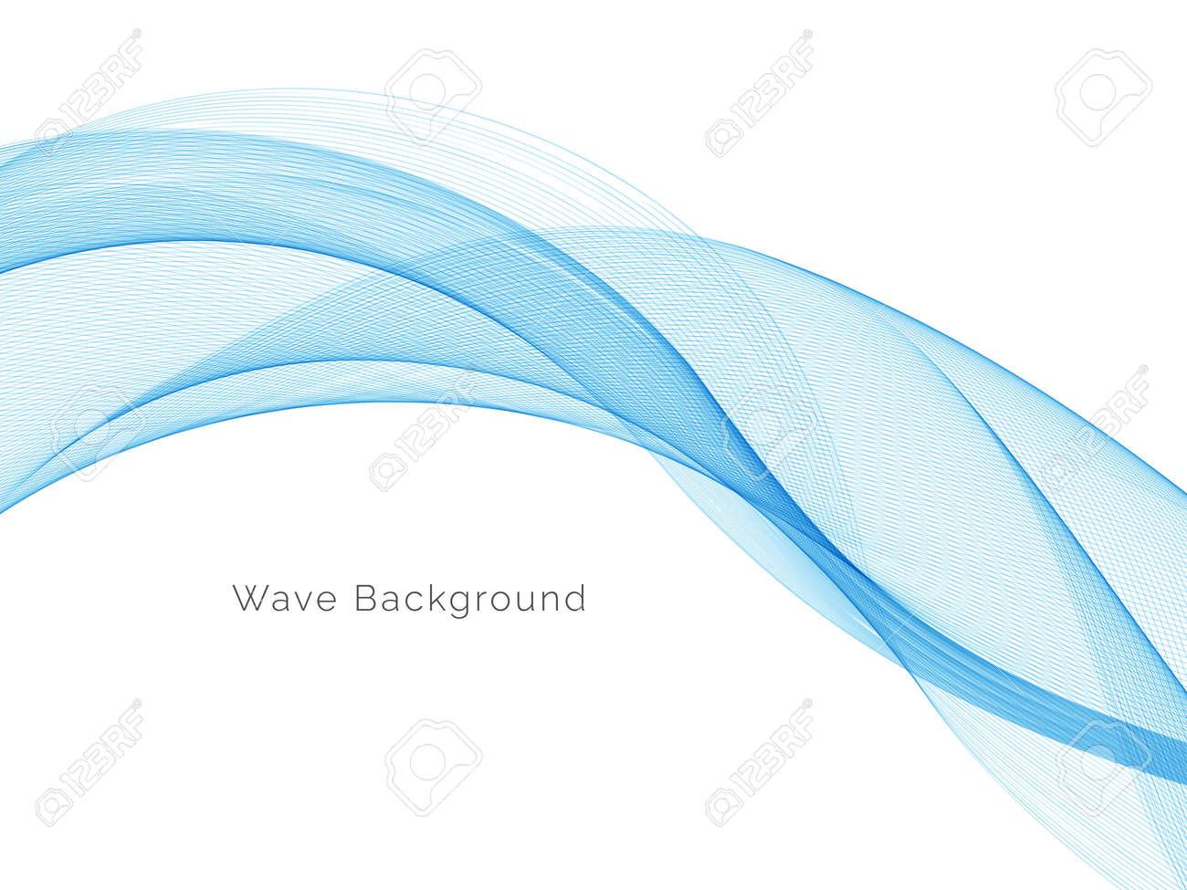 Blue wave concept background illustration vector - 166195981