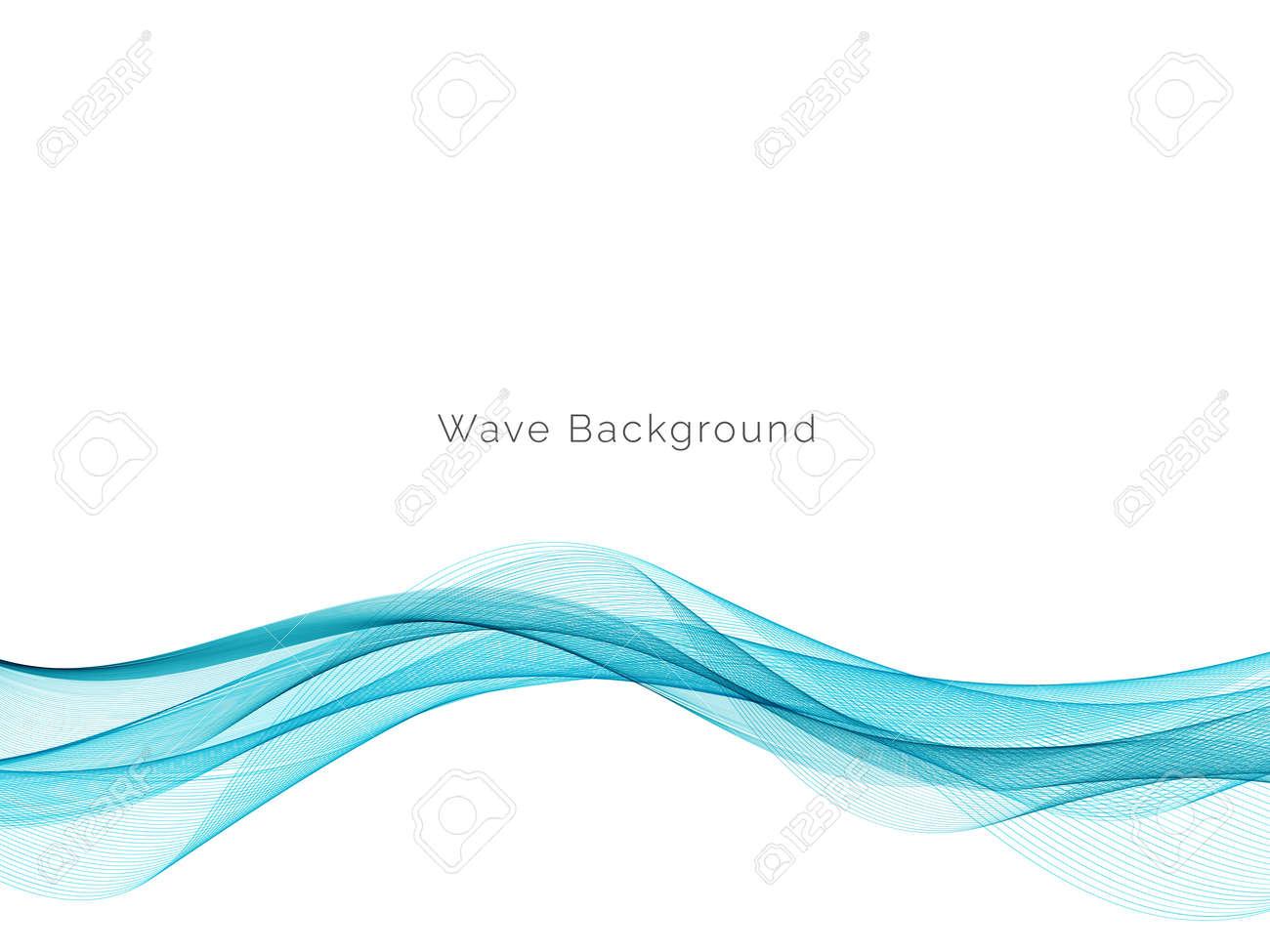 Modern Blue wave design background vector - 156911790
